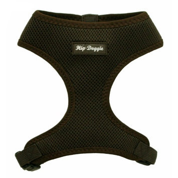 Hip Doggie Ultra Comfort Brown Mesh Harness Vest, XXL