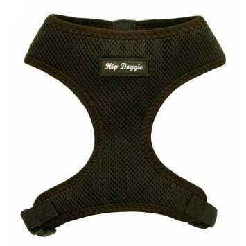 Hip Doggie Ultra Comfort Brown Mesh Harness Vest, Size: L
