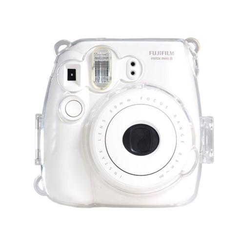 Colorful Plastic Protect Case for Fujifilm Instax Mini 8 Polaroid Camera Clear
