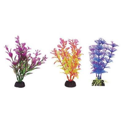 Aqua-Plants Aqua-Plant 4-Inch Colorful Plants 6-Piece Assortment from Penn-Plax