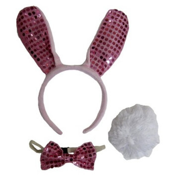 Tom's Toys Halloween Girls Bunny Headband Ears and Tail