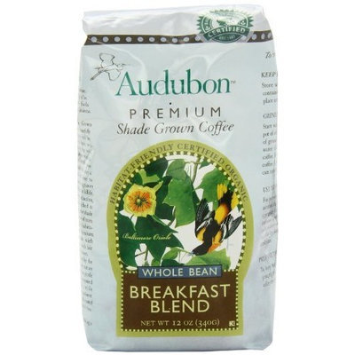 3M Audubon Whole Bean Coffee, Breakfast Blend, 12 Ounce