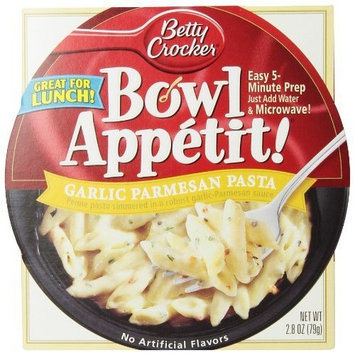 Betty Crocker Bowl Appetit, Garlic Parmesan Pasta, 2.8-Ounce Bowls (Pack of 12)