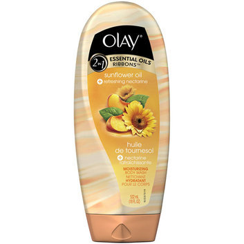Olay 2-in-1 Essential Ribbons Sunflower Oil + Refreshing Nectarine Moisturizing Body Wash