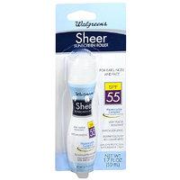 Walgreens Sheer Sunscreen Roller SPF 55