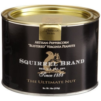 Squirrel Brand Nuts, Artisan-Peppercorn Blistered Virginia Peanuts, 18-Ounce Cans (Pack of 2)