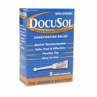 Docusol Constipation Relief, Mini Enemas, 5 ea