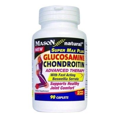 Mason Vitamins Glucosamine Chondroitin Super Max Plus with Fast Acting Boswellia Serrata 90-Count