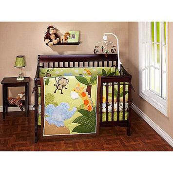 Crown Crafts Little Bedding by NoJo Jungle Time 3pc Crib Bedding Set - Value Bundle