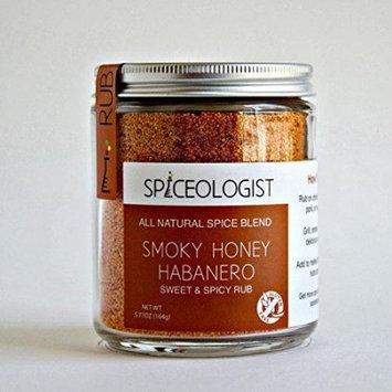 Spiceologist - Smokey Honey Habanero BBQ Rub/Seasoning, Sweet & Spicy Blend -9oz