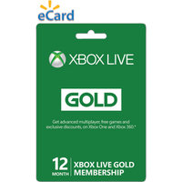 Microsoft Xbox Live 12 Month Gold Membership $59.99 (email delivery)