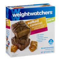 Weight Watchers Brownie Bliss Mini Brownies Salted Caramel - 6 CT