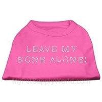 Mirage Pet Products 5242 XXLBPK Leave My Bone Alone Rhinestone Shirts Bright Pink XXL 18