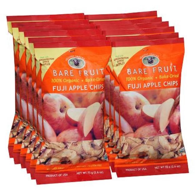 Bare Fruit Bake-Dried Fruit Chips 12 Pack