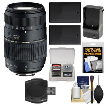 Tamron AF 70-300mm F/4-5.6 Di LD Macro Lens + (2) EN-EL9 Batteries with Charger + Accessory Kit for Nikon D5000, D3000, D40, D40x & D60 Digital SLR Cameras