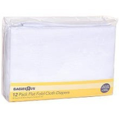 Babies 'R' Us Babies R Us Diapers 12-Pack Flat Fold Cloth Diapers