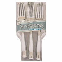 Creative Converting 41357 Metallic Look Plastic Forks - 24-Pack