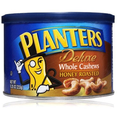 Planters Deluxe Whole Cashews Honey Roasted, 8.25-ounce Units (Pack of 3)
