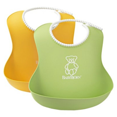 Baby Bjorn BABYBJ?RN Soft Bib - Green/Yellow 2Pk