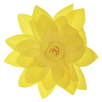 RIVIERA, A STYLEMARK CO Women's Riviera Flower Salon Clip/Pin with Glitter - Yellow