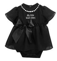 Stephan Baby My First Little Black Party Dress Ruffle-skirted Diaper Cover, 12-18 Months 680045 N/A