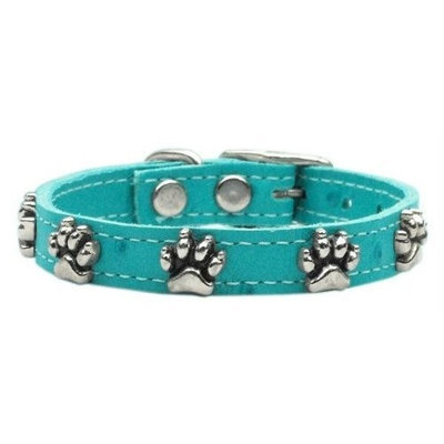 Mirage Pet Products 8309 16Tq Faux Ostrich Paw Leather Turquoise 16