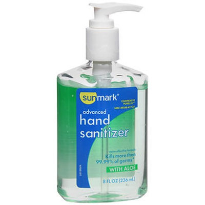 Sunmark Advanced Hand Sanitizer With Aloe, 8 oz by Sunmark
