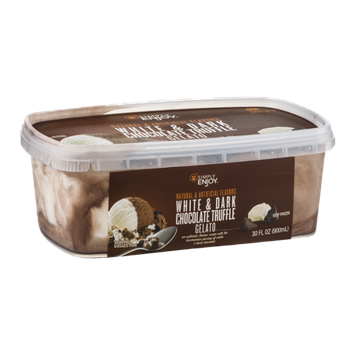 Simply Enjoy Gelato White & Dark Chocolate Truffle