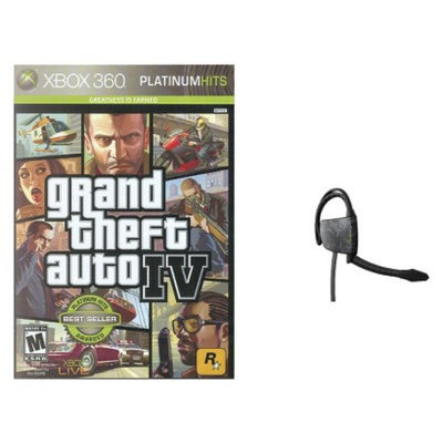 Xbox 360 Game GTA IV+Gioteck Headset