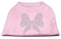Mirage Pet Products 5215 XXXLLPK Rhinestone Bow Shirts Light Pink XXXL 20