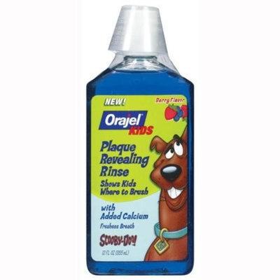 Orajel Plaque Revealing Rinse with Added Calcium, Berry Flavor 12 fl oz (355 ml)