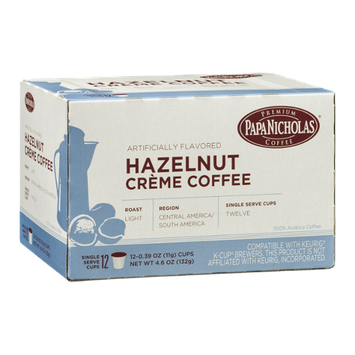 Papa Nicholas Hazelnut Creme Coffee Single Serve Cups - 12 CT