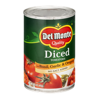 Del Monte Diced Tomatoes with Basil, Garlic & Oregano No Salt Added