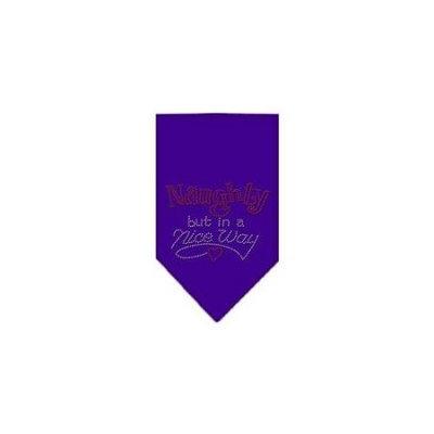 Ahi Naughty but in a Nice Way Rhinestone Bandana Purple Large