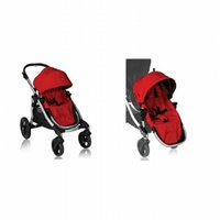 Baby Jogger City Select Stroller and Second Seat, Ruby, 1 ea