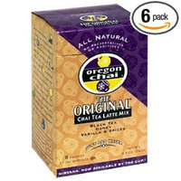 Davinci Oregon Chai Tea Latte Mix, Slightly Sweet Dry, 8-Count Boxes (Pack of 6)
