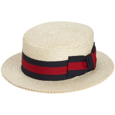 Scala Men's Dress Straw 1 Piece 10/11Mm Laichow Braid Boater Hat []
