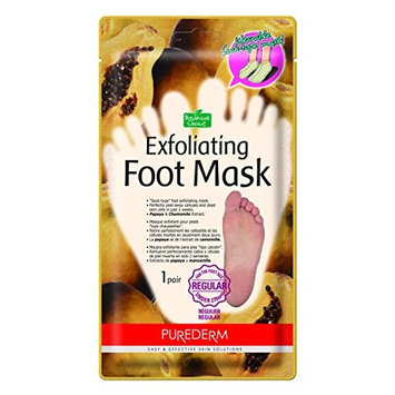 [Purederm@korea] Purederm Exfoliating Foot Mask[Large Size(over 270mm) - Peels Away Calluses and Dead Skin in 2 Weeks! [10 Packs (10 Pairs)] (10 pairs)