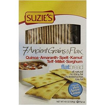 Suzies Suzie's 7 Ancient Grain Flatbreads, 4 Ounce (Pack of 12)