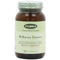 Flora - Bilberry Extract Capsules - 30 count (FFP)