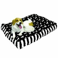 Happy Hounds Buster Extra Small 18 by 24-Inch Dog Bed, Black/White