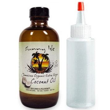 Sunny Isle Jamaican Organic Extra Virgin Coconut Oil 4 Oz. /w applicator