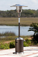 Well Traveled Living Fire Sense Mocha and Stainless Steel Commercial Patio Heater - WELL TRAVELED IMPORTS, INC.