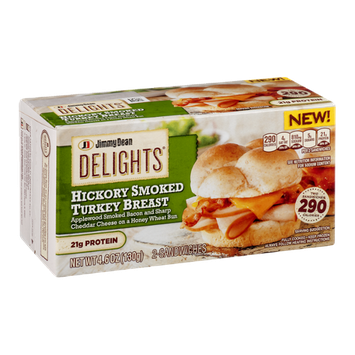 Jimmy Dean Delights Hickory Smoked Turkey Breast Sandwiches - 2 CT