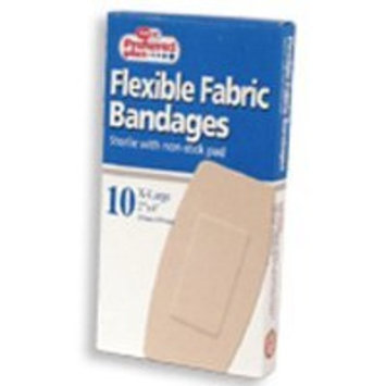 Flexible Fabric Bandages Sterile With Non Stick Pads, Extra Large - 10 ea