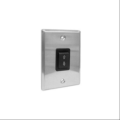 Draper 121001 Single Station Control SS-1R Projection Screen Key Switch (Black/Stainless Steel)