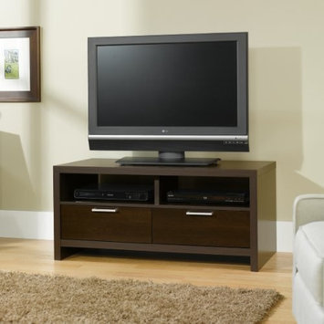 TDM Contemporary Entertainment Center - Cinnamon Cherry Finish