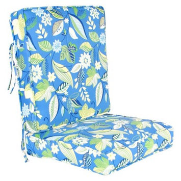 Jordan Outdoor Conversation/Deep Seating Cushion Set - Blue/Green Floral