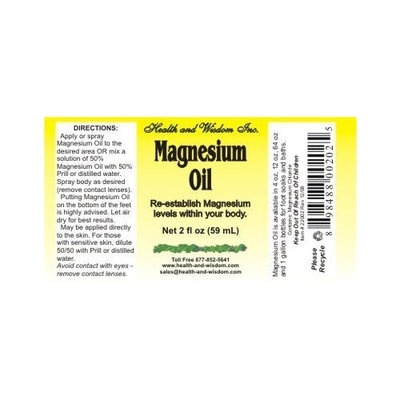 Health And Wisdom MAGNESIUM OIL USP 2 OZ