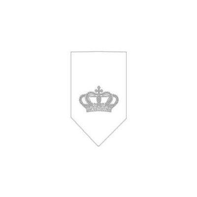 Ahi Crown Rhinestone Bandana White Small